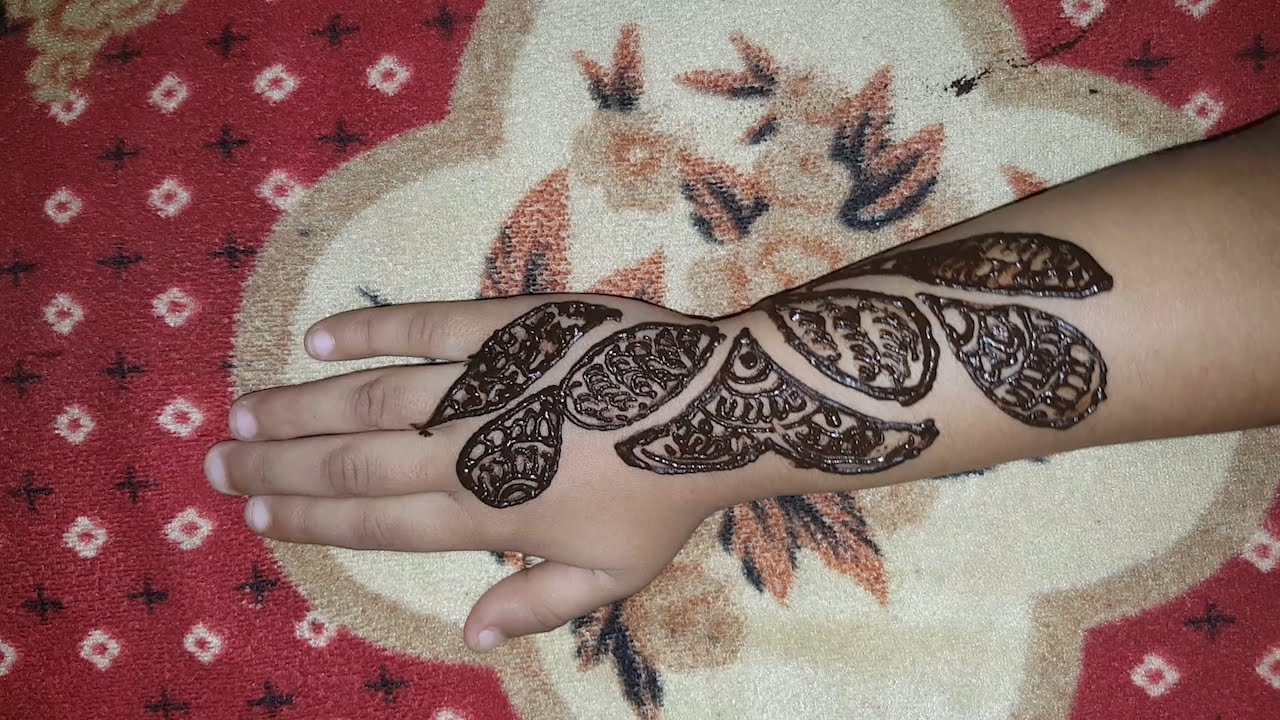 Easy Henna Designs Step By Step For Beginners: Kids New Mehndi Design Step By Step For Beginner Easy