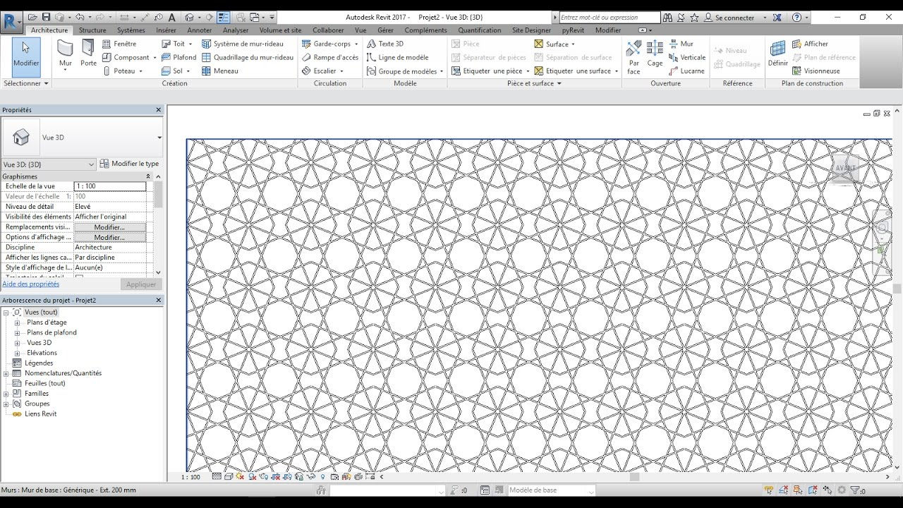 creating pattern in revit