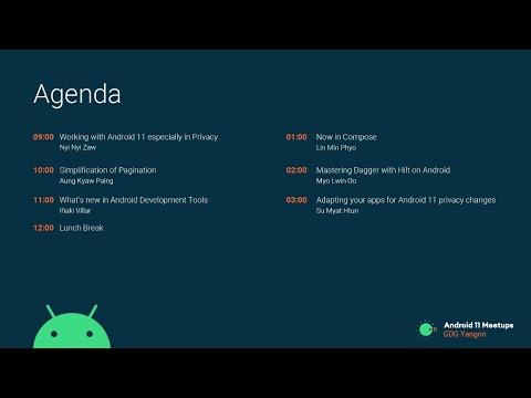 Android 11 Meetups (GDG Yangon)