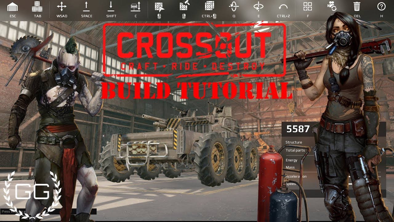 CROSSOUT - BUILD BIG or DIE SMALL ( Crossout contest video )