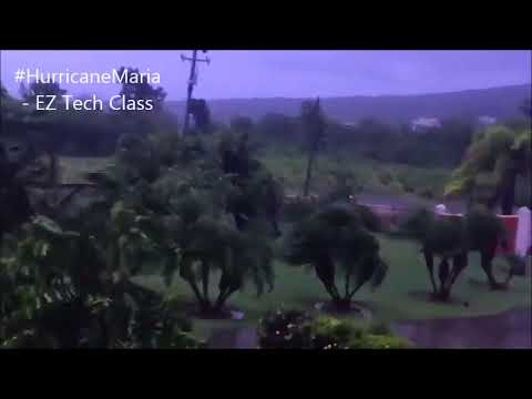 First impacts of Hurricane Maria in Saint Kitts and Nevis, Caribbean