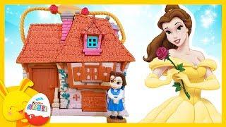 Histoire La Belle et la Bete -  Disney Animators - Belle, Elsa et Raiponce - Titounis Touni Toys