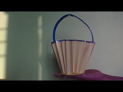 How to Make Beautiful Paper Bucket ?  Diy Paper Craft