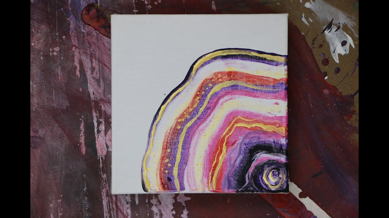 Agate inspired abstract painting technique acrylic craft for Diy abstract acrylic painting