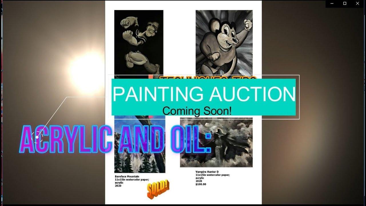 4.16.2021 8pm EST GRAYSCALE PAINTING ART AUCTION
