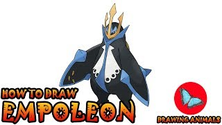 How To Draw Empoleon Pokemon | Coloring and Drawing For Kids
