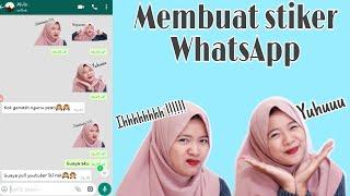 Download Video Cara membuat stiker whatsapp dengan foto pribadi 😎 mudah dan simple MP3 3GP MP4