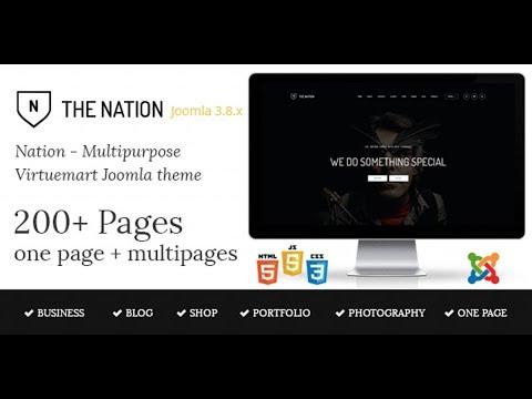 Joomla шаблон Nation 1.3. Virtuemart скачать бесплатно