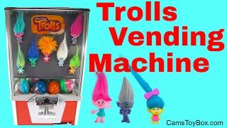 Dreamworks Series 2 Trolls Blind Bags Toy Vending Machine Opening Surprises for Kids Fun Playing