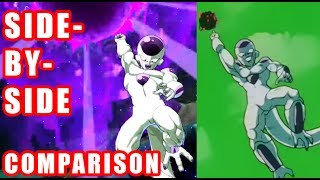 DRAGON BALL FighterZ - Level 1 Super Moves Side by Side Comparison Game and Anime - XB1 PS4 PC