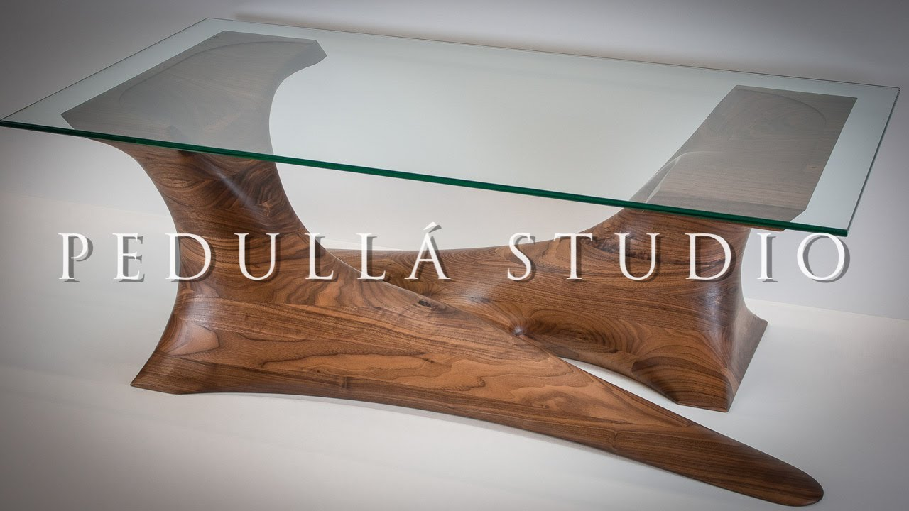 Walnut Sculpted Coffee Table   Build Video By Pedulla Studio