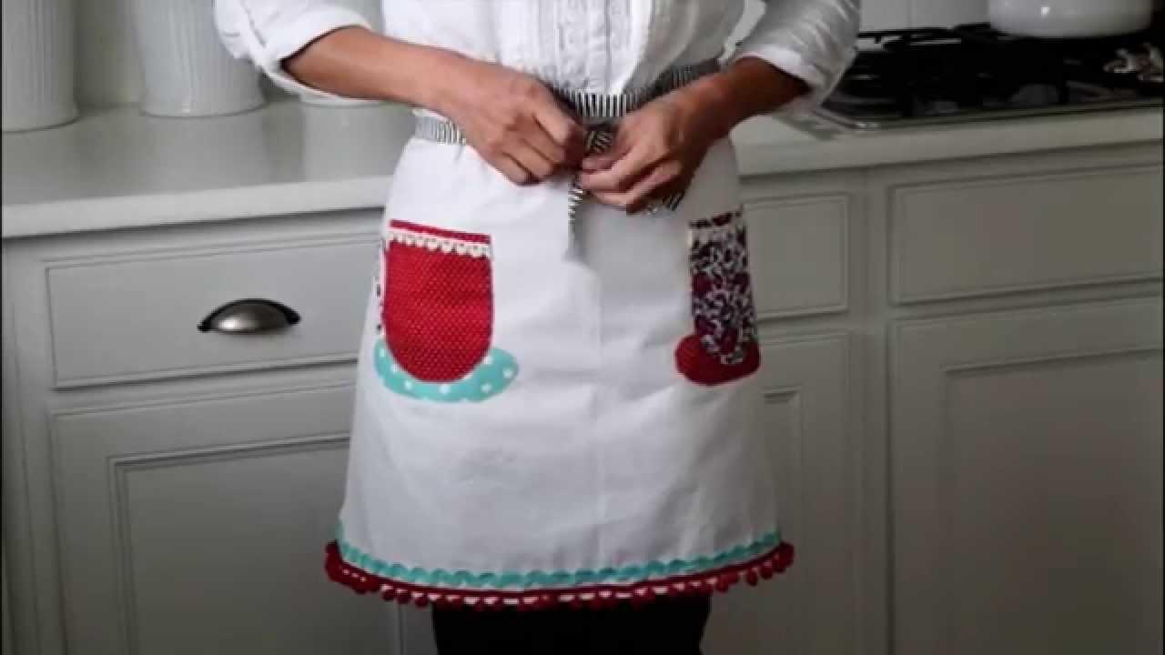 White tea apron - White Tea Apron 43