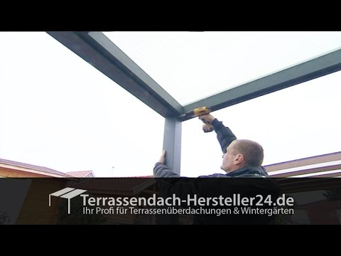 terrassen berdachung montagevideo aufbauanleitung youtube. Black Bedroom Furniture Sets. Home Design Ideas