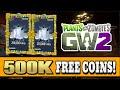 Plants vs. Zombies Garden Warfare 2 - How To Get 500,000 Coins + Legendary Item!