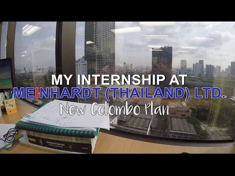 My Internship in Bangkok l Meinhardt l New Colombo Plan