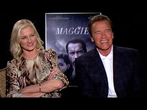 Arnold Schwarzenegger and Joely Richardson Talk 'Maggie' and 'Twins'
