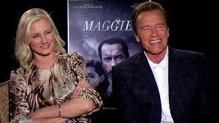 Arnold Schwarzenegger and Joely Richardson Talk