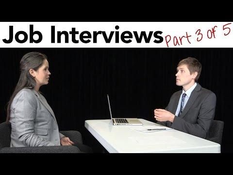 How to Interview for a Job in American English - Part 3/5