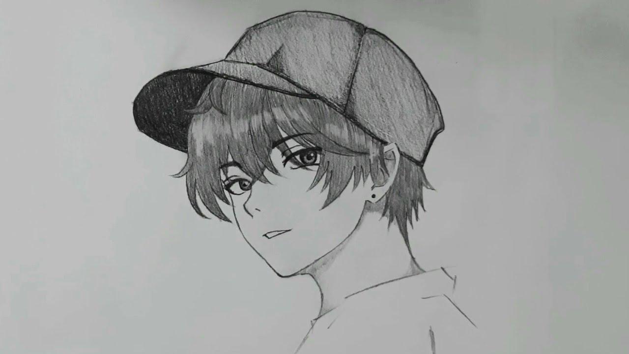 Pemula Wajib Nonton Cara Menggambar Anime Cowok Memakai Topi Langkah Demi Langkah Youtube