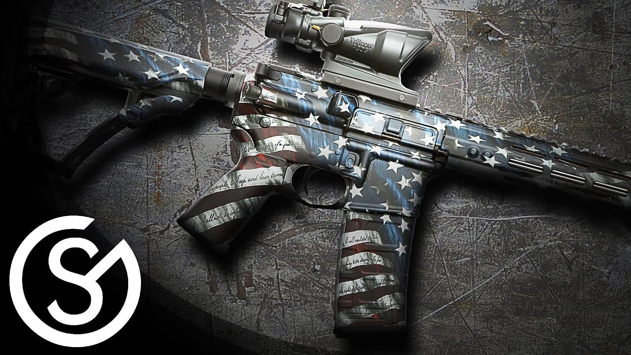 Gunskins ar 15 rifle skin vinyl camo wrap