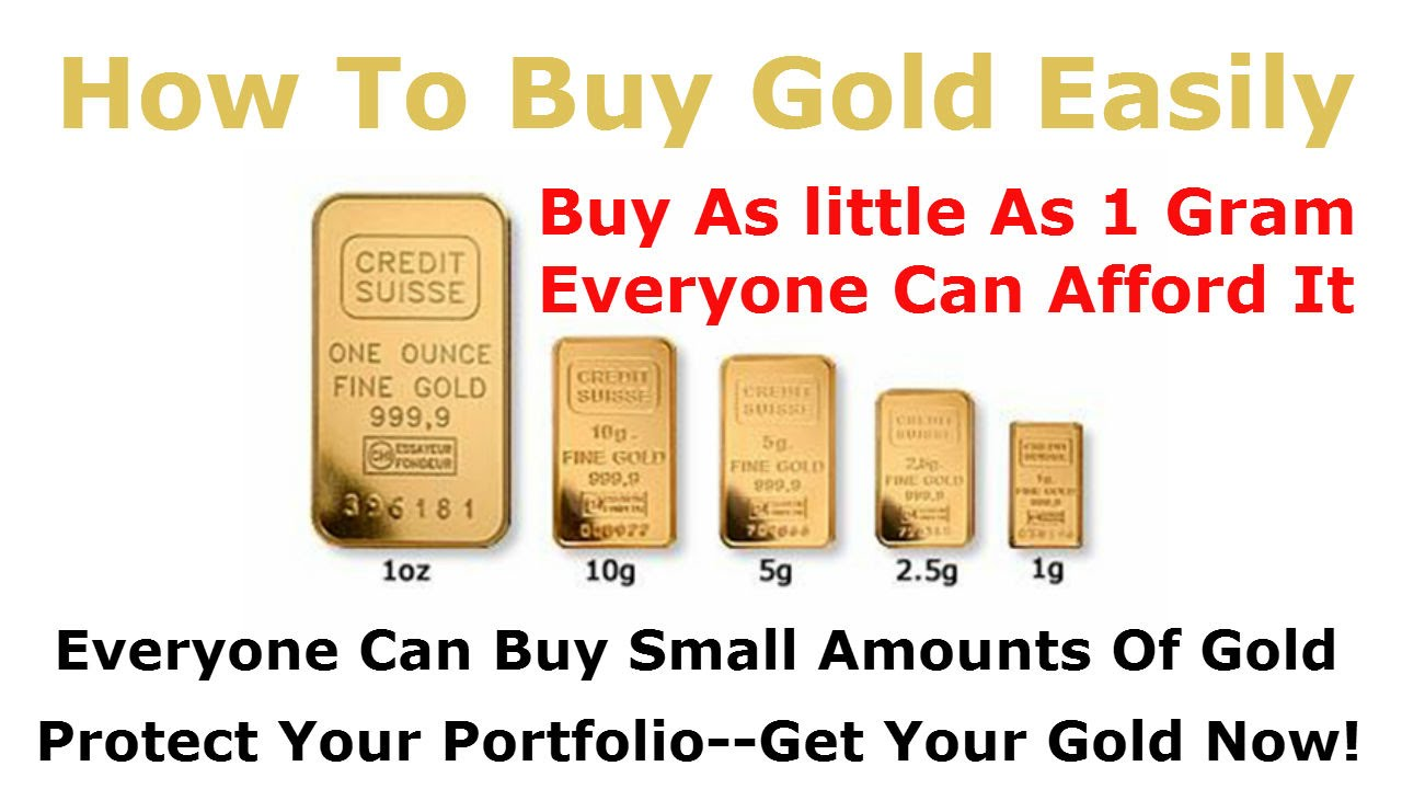 How to buy gold now - How To Buy Gold Bullion