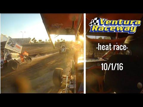 California Lightning Sprint at Ventura Raceway -Heat Race- 10/1/16