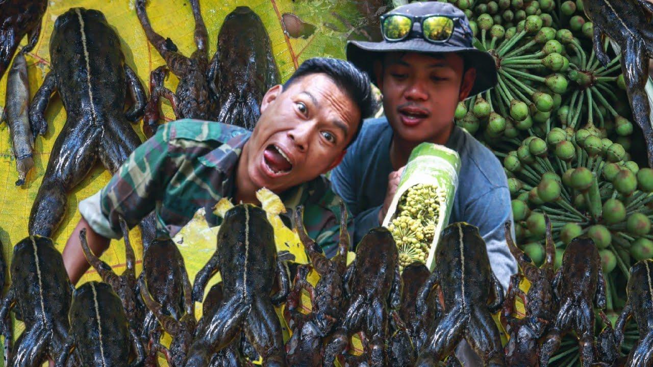 """หาเขียดจุกในป่า! """"ว่านช้างร้อง"""" ทำหลามกิน!!! [เอ็มเพ็งซี]"""