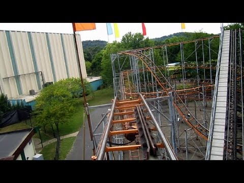 Python Front Seat On-ride HD POV Coney Island, Cincinnati, Ohio