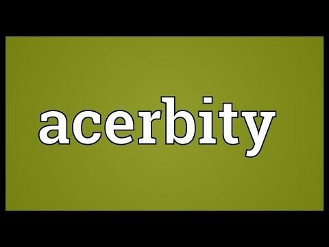 Header of acerbity
