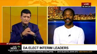 DA interim leaders | Reaction to Steenhuisen