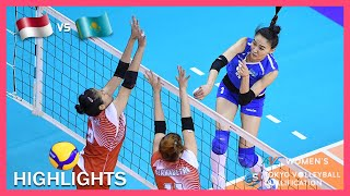 Indonesia vs Kazakhstan | Highlights | Jan 08 | AVC Women's Tokyo Olympic Volleyball Qualification