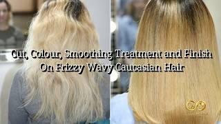 #tamefrizzyhair #frizzyeauropeanhair Hair Transformation| Frizzy to Smooth: Wavy European Hair