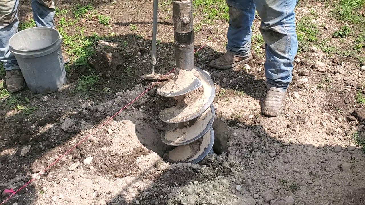 DIGGING HOLES FOR FENCING #FENCING #METAL POSTS #CONCRETE #SETTING FENCE #MEDINA COUNTY #SOUTH TEXAS