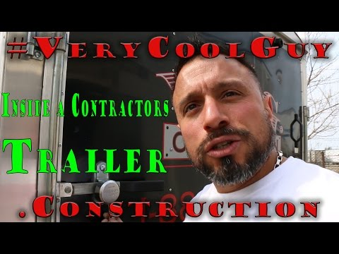 Inside A Contractors Tool Trailer