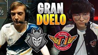 *FAKER vs CAPS* el DUELO MÁS ESPERADO!! | G2 vs SKT | MSI Highlights Español