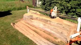 Sunday Sawmill Cuting Heavy Timber 1080p50 Hd