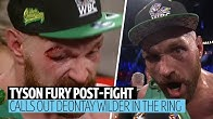 """""""Deontay Wilder is next the big dosser!"""" Tyson Fury in-ring interviews after Otto Wallin win"""