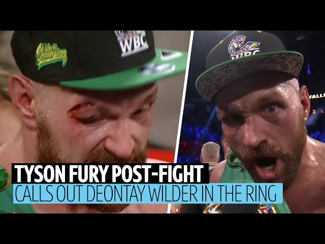 """Deontay Wilder is next the big dosser!"" Tyson Fury in-ring interviews after Otto Wallin win"