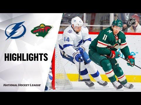 NHL Highlights   Lightning @ Wild 1/16/20