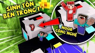 Rex Và Noob Thử Thách Sinh Tồn Trong Cơ Thể Của Noob Công Nghệ Trong Minecraft !!!
