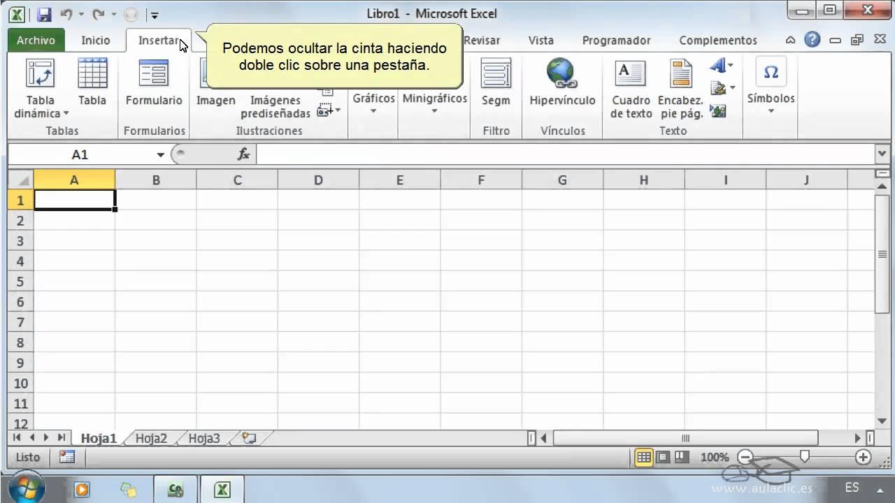 Curso De Excel 2010. 1. El Entorno De Trabajo.