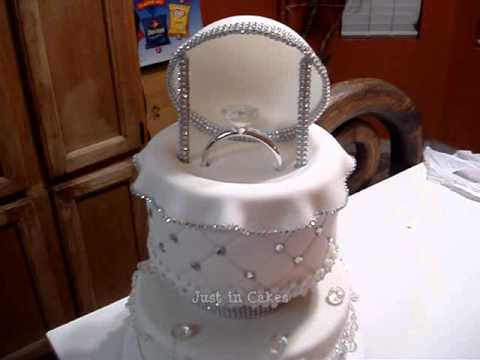 engagement ring box cake tutorial