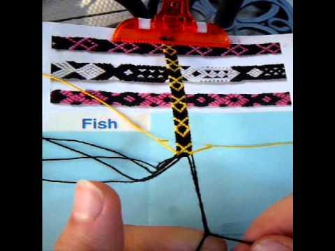 Fish Friendship Bracelet Tutorial