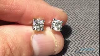 4 CLAW DIAMOND STUD EARRINGS IN GOLD 2=1.00ct - Australian Diamond Network