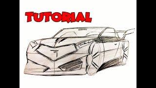 COMO DIBUJAR UN AUTO /  como dibujar un carro
