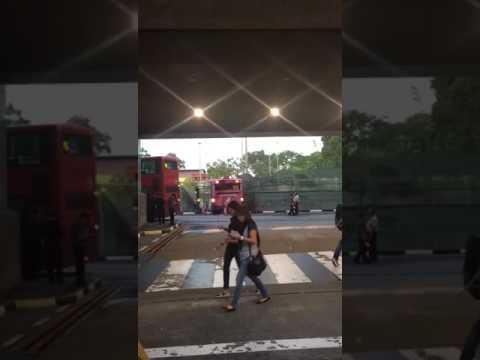 SBS Transit Bus Stuck In Tennis Court At Yio Chu Kang