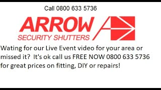 ▷ Roller Shutter Repairs Rugby Call FREE now 0800 633 5736 | Arrow