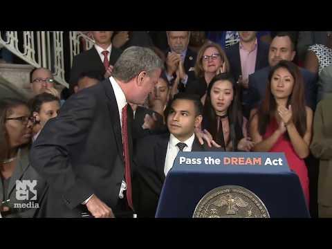 Mayor de Blasio Holds Media Availability Regarding Trump Rescinding the DACA Program