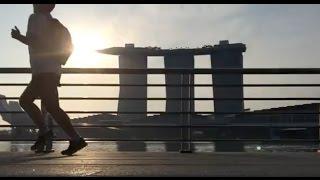 Running Challenge - Singapore run - go hard or go home- Nike, Adidas, Reebok - Marina Bay Sands