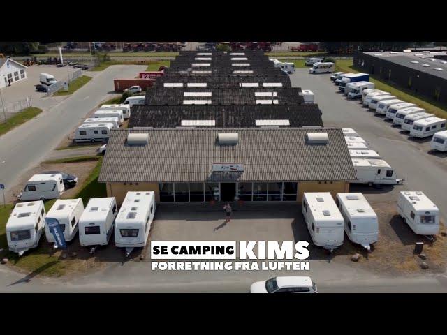 Camping Kims Campingcenter set fra luften